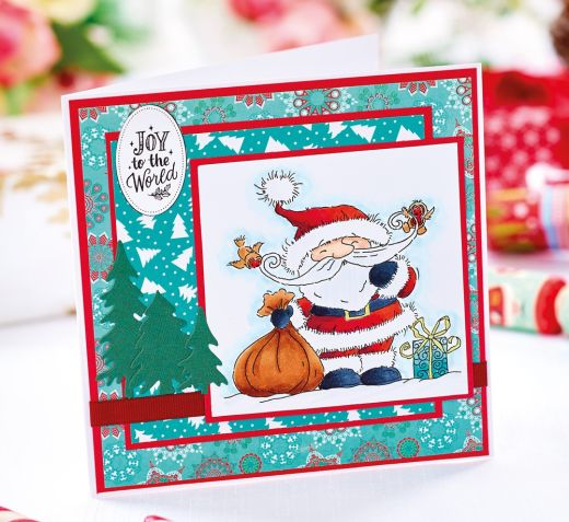 Easy Layered Snowman Christmas Card