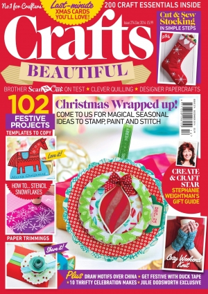 Crafts Beautiful December 2014 Issue 274 Template Pack