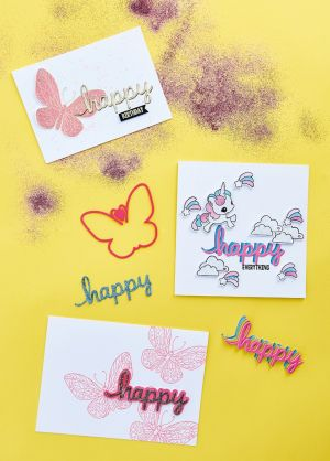 Dreamy Die-Cut Greetings