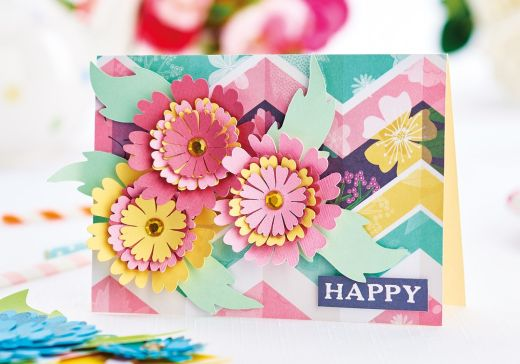 Bright Flowers Using Brother ScanNCut