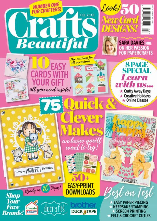 Crafts Beautiful February 2018 Issue 315 Template Pack