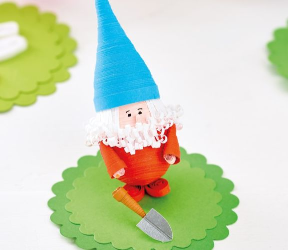 Cheeky Quilled Paper Gnomes