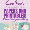 Crafter's Companion Christmas Papers and Printables