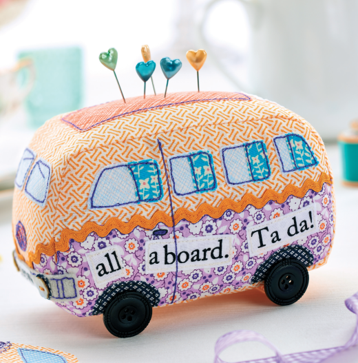 camper van pin cushion