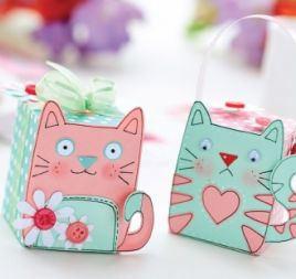 Cat Motifs & Gift Box Templates