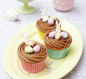 Chocolate Easter Nest Cupcakes