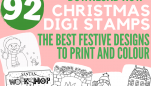 Christmas Digi Stamps: 92 Free Downloads