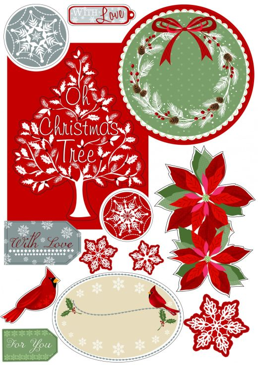christmas sentiments toppers