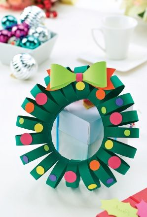christmas crafts to make simple papercraft wreath template free card 28773