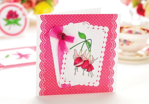Colour-Blended Floral Cards