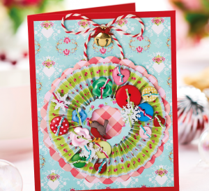Concertina Wreath Christmas Card
