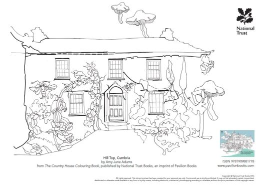Image From The Country House Colouring Book - Free Card Making ... on house sketch, house drawing, house letters book, house coloring worksheet, house coloring paper,