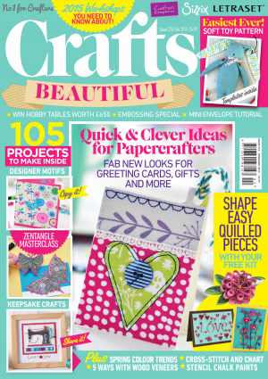 Crafts Beautiful February 2015 Issue 276 Template Pack