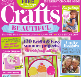 Crafts Beautiful June 2015 Issue 280 Template Pack