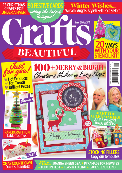Crafts Beautiful November 2015 Issue 286 Template Pack