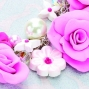Create Polymer Clay Flower Clusters Necklace