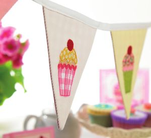 Cupcake Themed Bunting And Cards