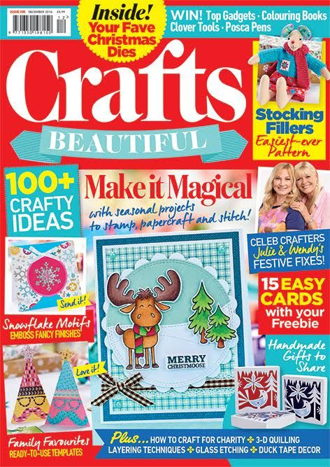 Crafts Beautiful December 2016 Issue 300 Template Pack