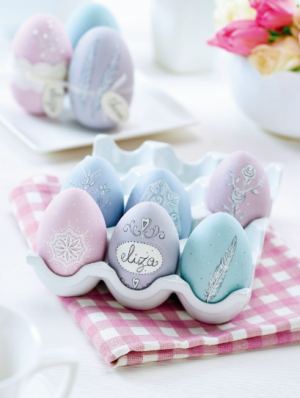 Hand-Painted Pastel Eggs Template