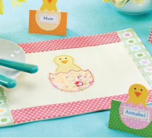 Easter Applique Table Mat Pieces