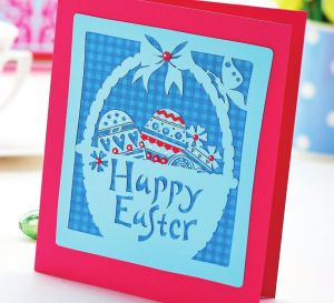 Easter Cards Using Papercutting