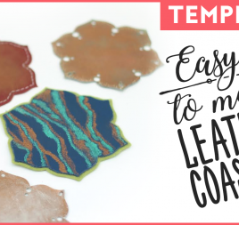 Easy To Make Leather Coasters Template
