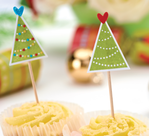 Easy Christmas Cupcake Toppers
