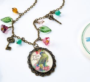 Embed vintage images in resin Necklace