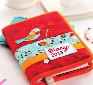 Embroidered Diary Cover