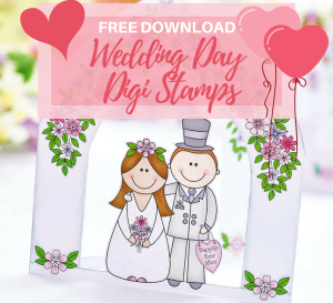 FREE Wedding Day Digi Stamps