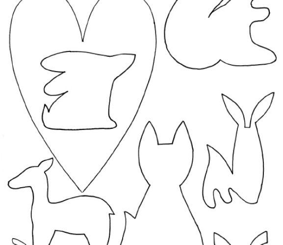 card making templates free download - fox deer hare woodland templates free card making
