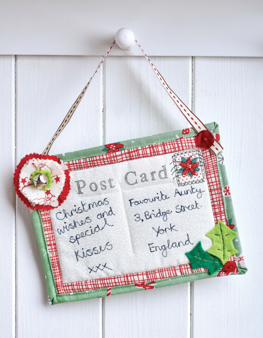 Fabric Christmas Postcards