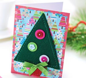 Felt Applique Christmas Cards
