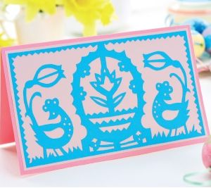 Intricate Easter Papercutting Template