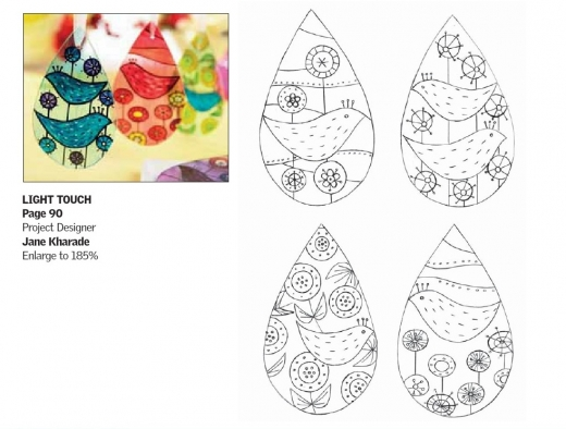 Glass painting free card making downloads papercraft for Glass painting templates