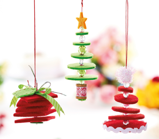 Hanging Felt Christmas Decorations - Free Craft Project ...