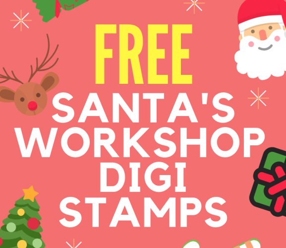 FREE Santa's Workshop Christmas Digi Stamps