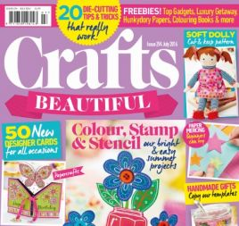 Crafts Beautiful July 2016 Issue 294 Template Pack