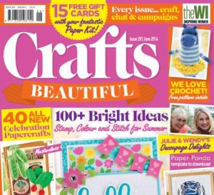 Crafts Beautiful June 2016 Issue 293 Template Pack