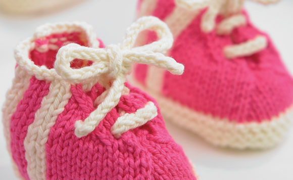 Knitted Baby Boots