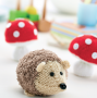 Knitted Hedgehog & Toadstools