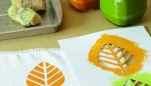 Leaf Napkins Template