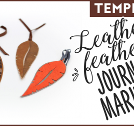 Leather Feather Journal Markers Template
