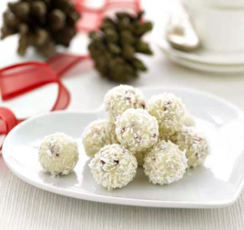 Lemon, Coconut & White Chocolate Truffles