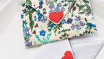 Fabric Valentine's Notes