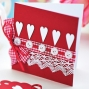 Simple Tartan & Lace Valentine's Day Card