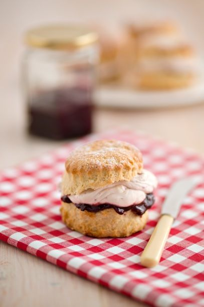 Ginger Scones with Black Cherry Jam - Free Card Making Downloads ...