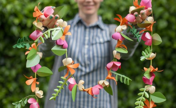 Flower Garland By Lia Griffith