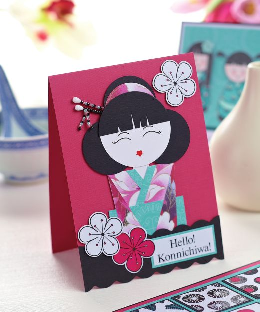 make cards with japanese inspired stamps  free card
