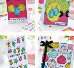 Chinese Lantern New Year Card Set
